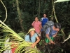 Collecting palm fronds